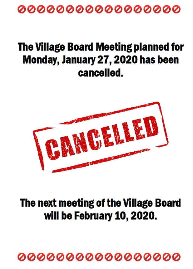 Cancellation 1.27.20