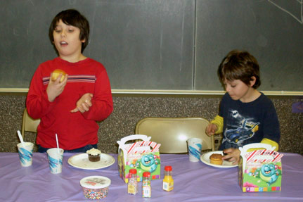 Two Kids with Cup Cakes
