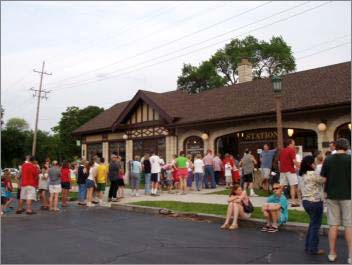 Ice Cream Social Held at the Train Station