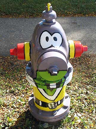 Fire Hydrant Character- Ardmore and Highland