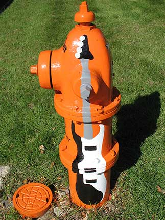 Guitar with Orange Hydrant- Madison and Wisconsin (2)