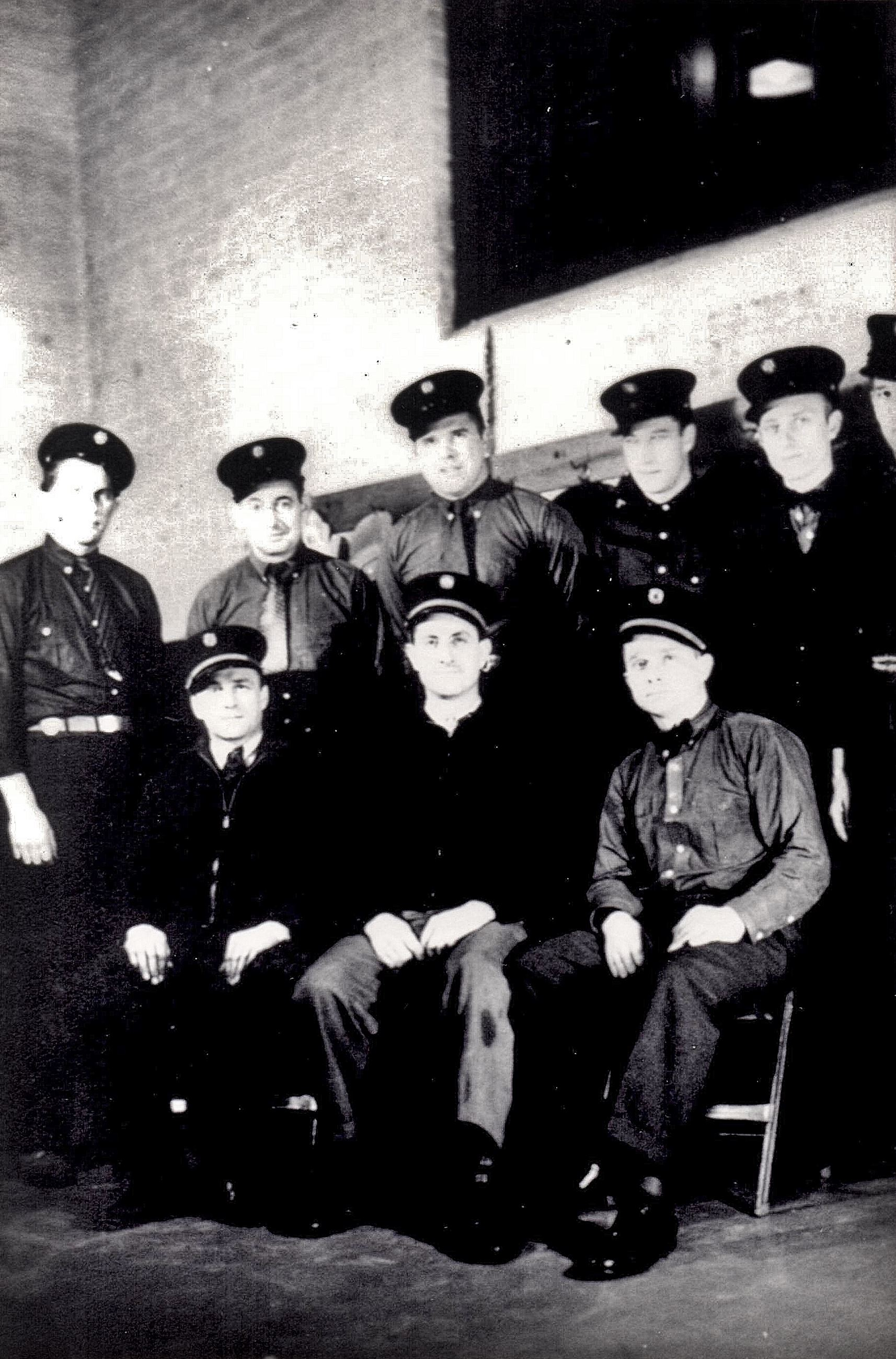 Villa Park firefighters pose for a photo in 1938.