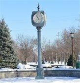 Clock on path